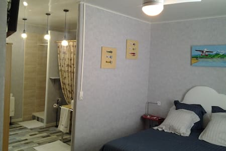 Grande chambre d'hôtes indépendante, wifi gratuit - Saint-Laurent-de-la-Salanque - Bed & Breakfast