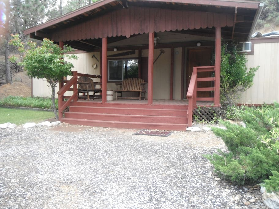 Cedar home nestled in a beautiful scenery