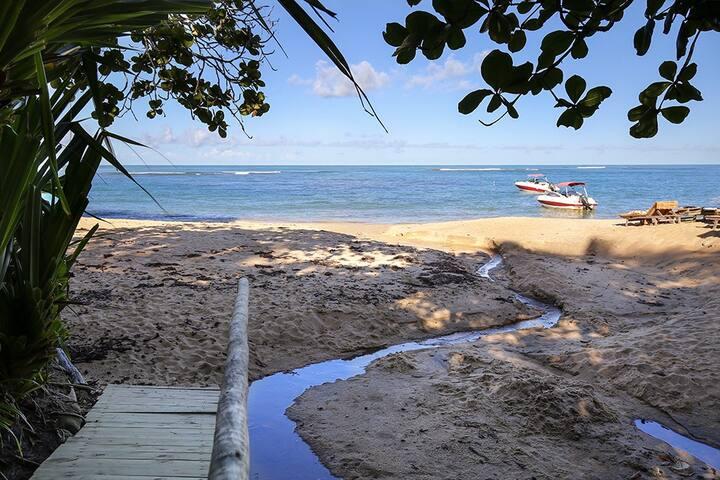 Casa do Mangue - pé na areia na Praia do Espelho