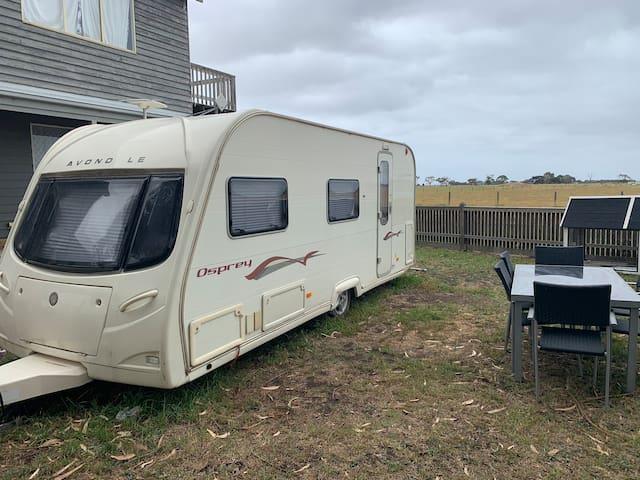Farm stay in modern caravan