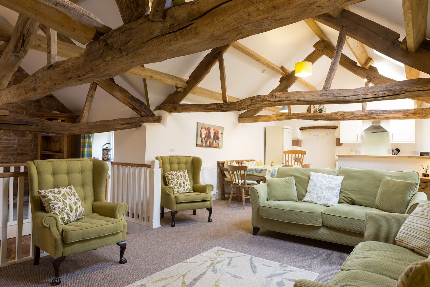 The amazing open plan barn bursting with character and contemporary country style.