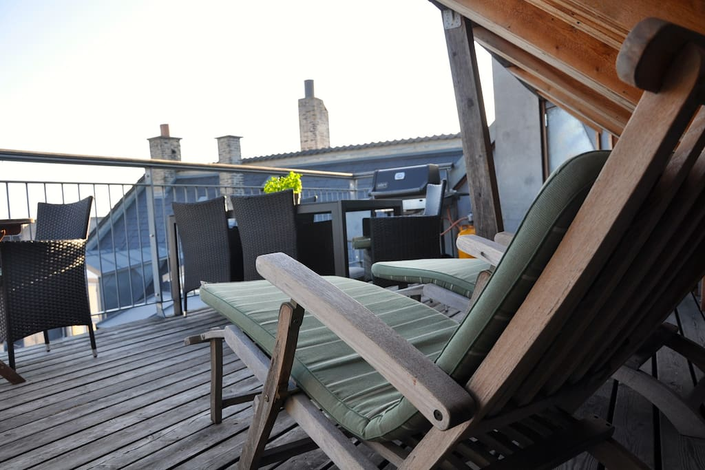 The roof top terrasse