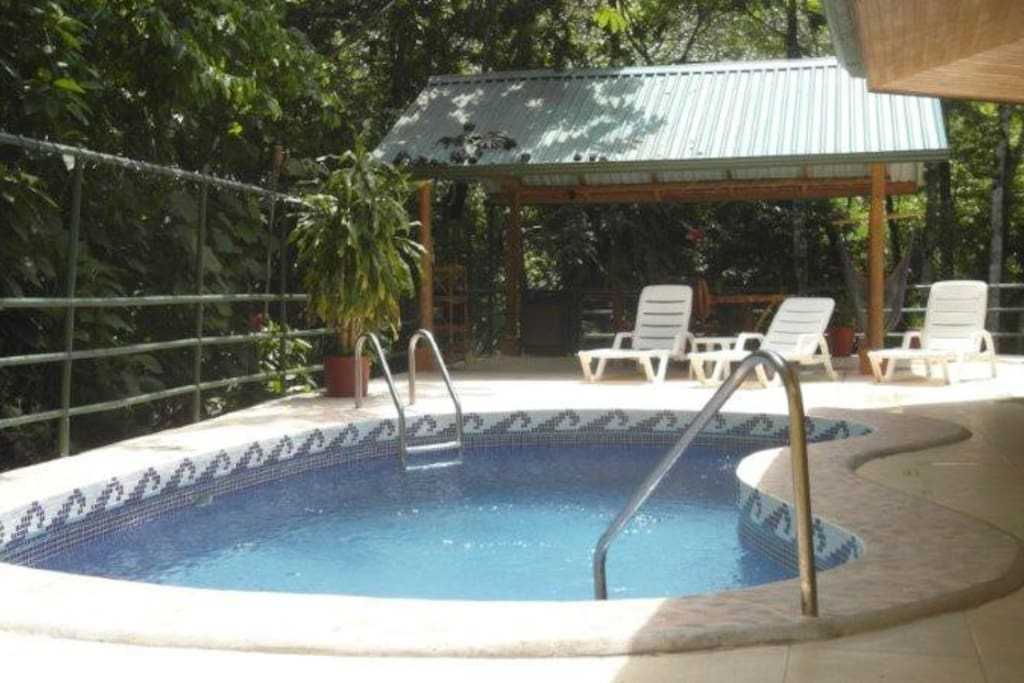 Pool, Rancho, BBQ, Lounge Chair, Tables