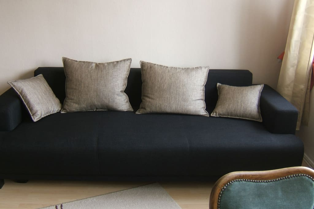 the 1,5m wide sleeping couch for two