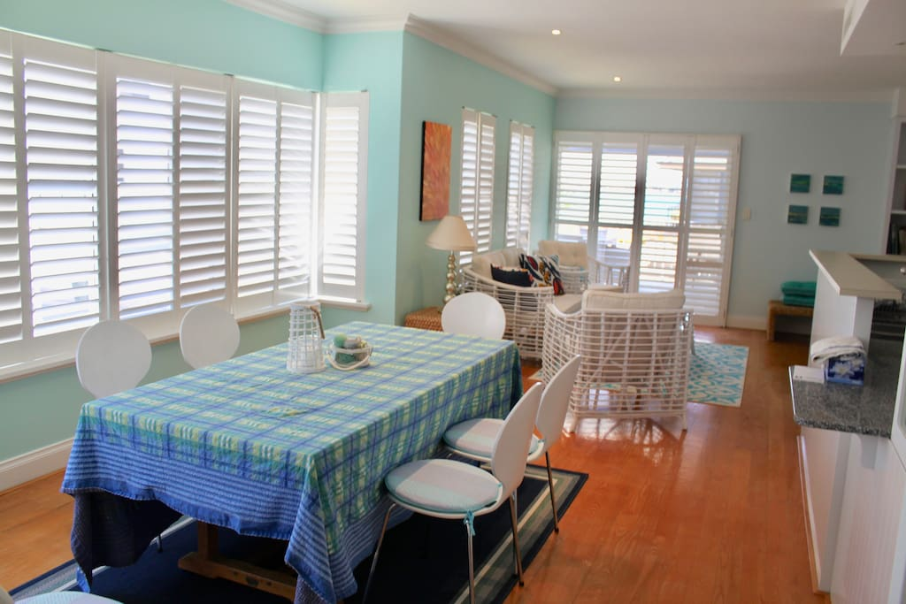 Main Living area Wooden Shutters through-out