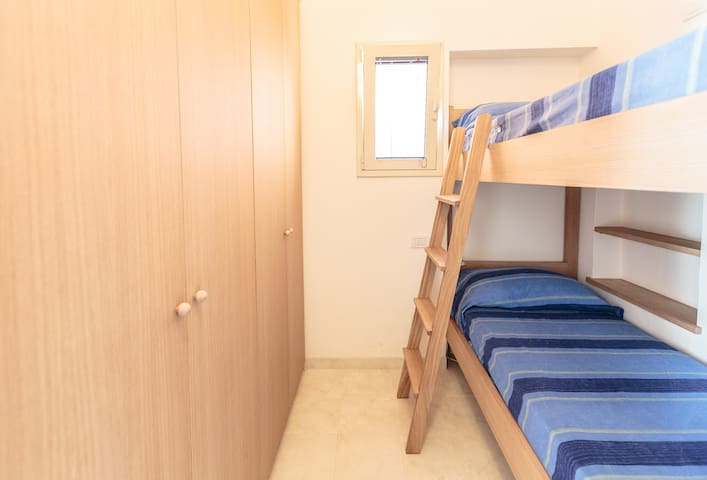 The bunk bed room