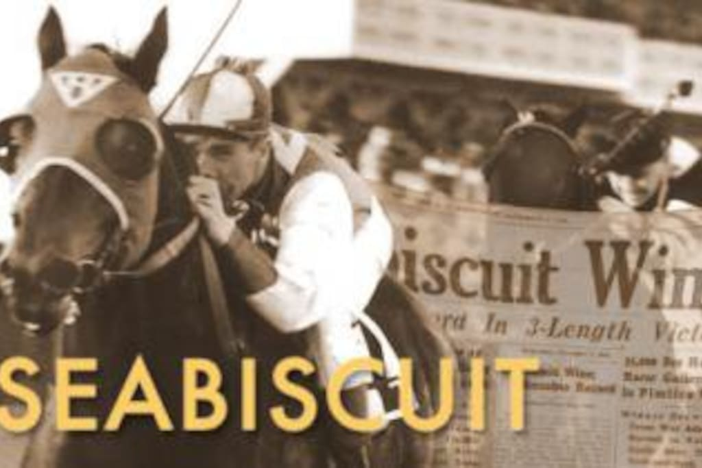 The Seabiscuit room is a tribute to the famous thoroughbred race horse.