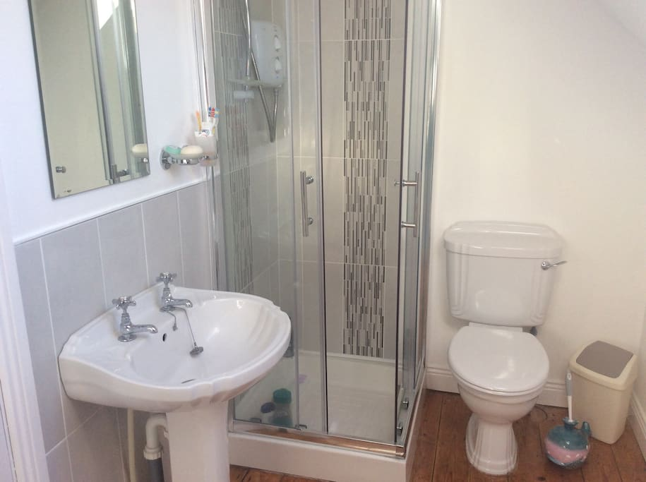 Bathroom which is detached from the guest bedroom, may be private.
