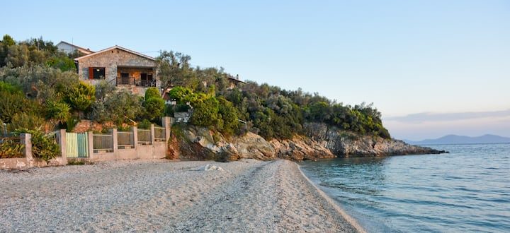 Beach front villa in Pelion