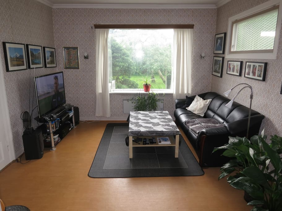 This is the place for watching TV, DVDs & Blu-rays, listening to music, or just relax