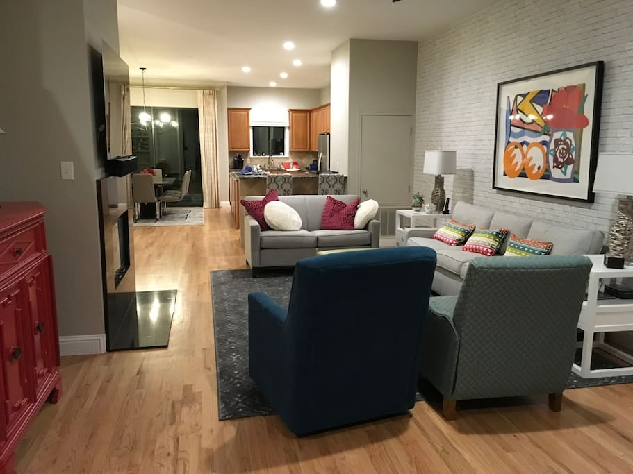 Another view of the living area. Spacious and plenty of room to relax and chat.