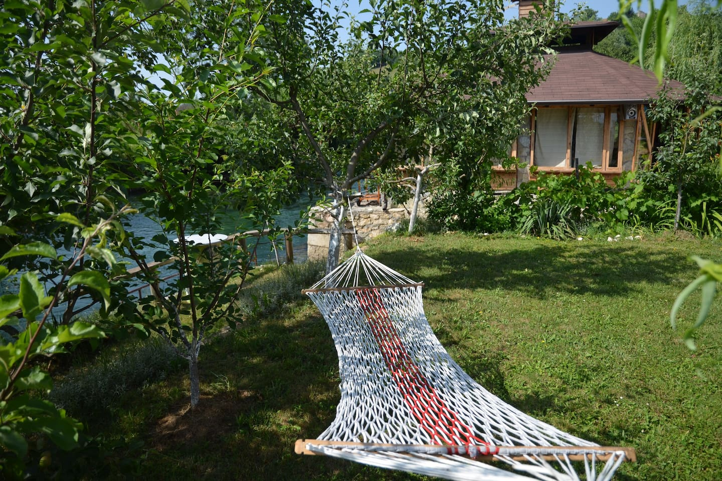 The perfect spot to sit and relax, to chill or to sunbathe and swim