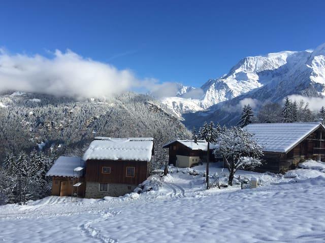 Chalet Les Chattrix rénové 3ch,2sdb - Saint-Gervais-les-Bains - Chalet