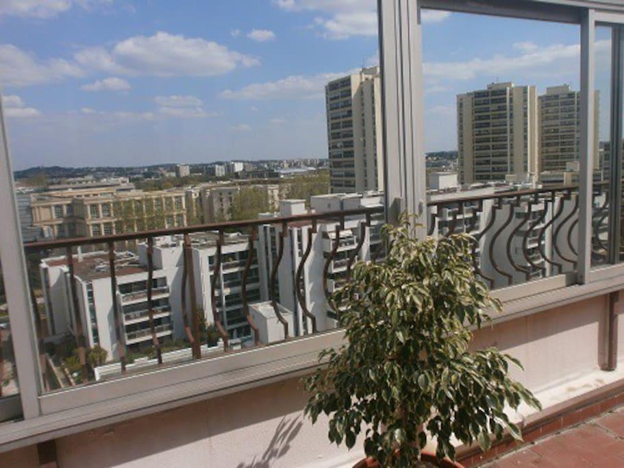 e la vision par le balcon...