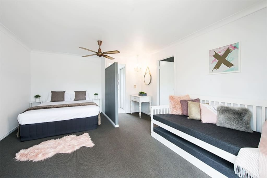 Our 2 bedroom cottage can accommodate 2 - 6 people. Relax in comfort, privacy and style in a cottage complete with your own private bathroom, kitchenette, TV and lounge area