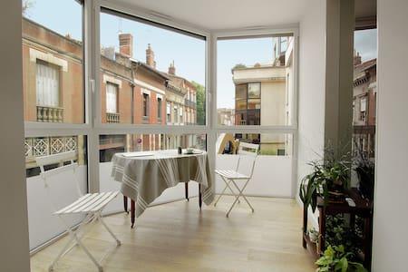 City Center Very Quiet + Breakfast + Bike space - Toulouse - Huoneisto