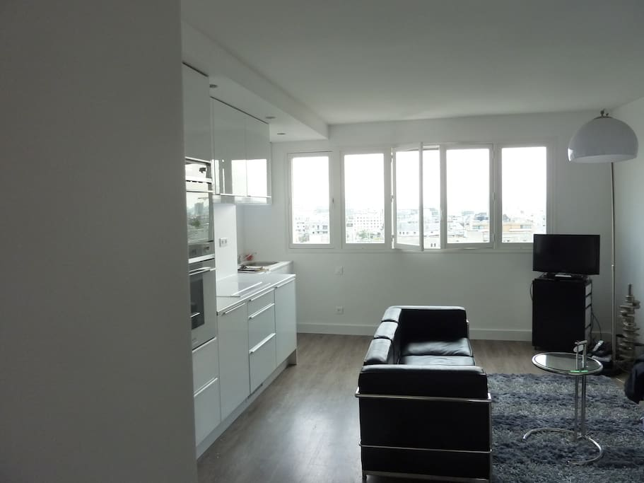 Vue tour eiffel parking boulogne appartements louer - Salon de massage boulogne billancourt ...