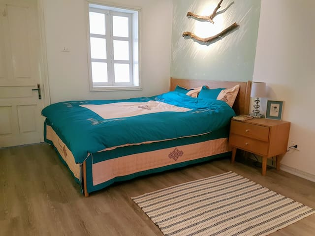 bed room is fullfill of nature light