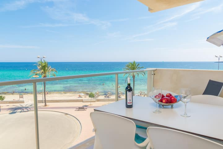 SA MANIGA - Apartment with sea views in CALA MILLOR. Free WiFi