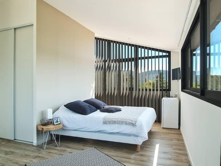Chambre  romantique avec vue panoramique