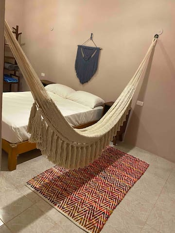Second room has a beautiful hammock to relax and chill.