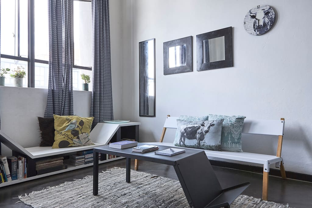 Encounter jozi authentic urban living lofts for rent in for Living room jozi