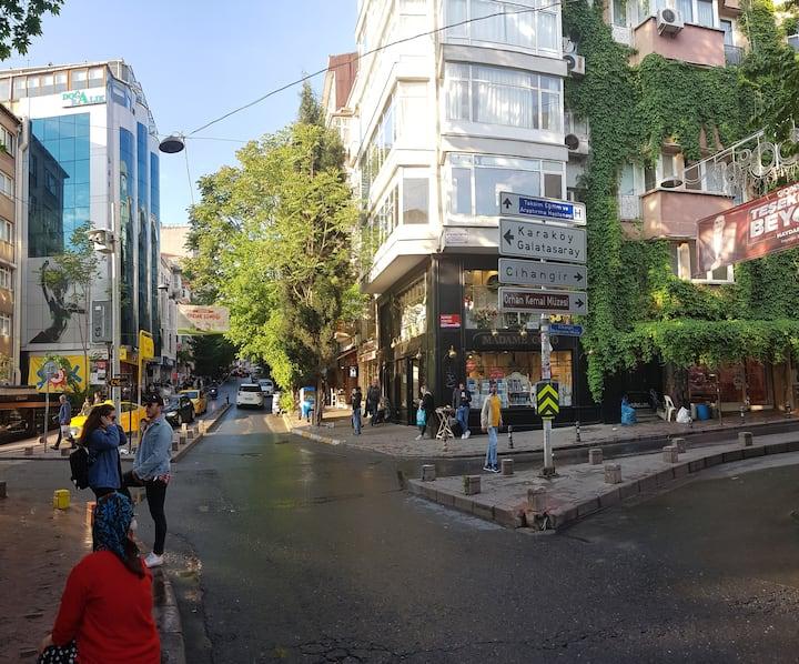 Taksim, Cihangir, renovated flat, G floor #2