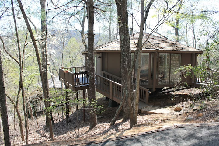 Mountain Paradise, Tree Top Cabin in Big Canoe