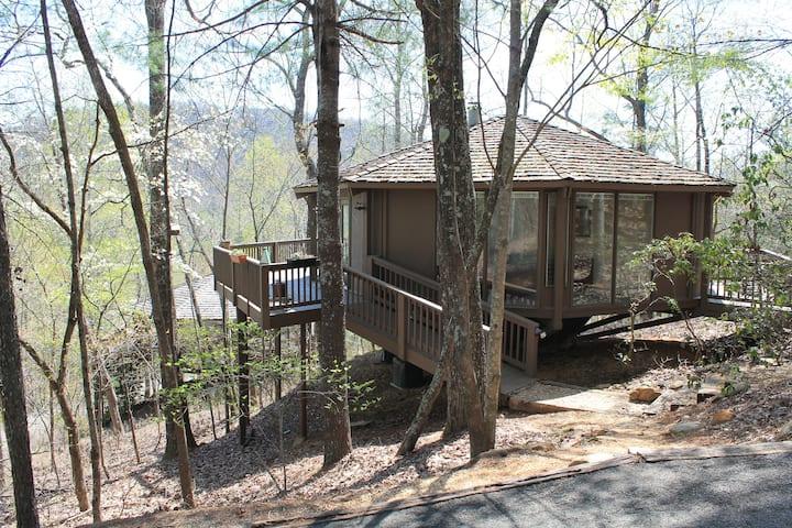 Mountain Paradise, Tree Top Cabin in Big Canoe