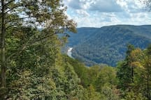 The Gauley River - vantage half-mile away