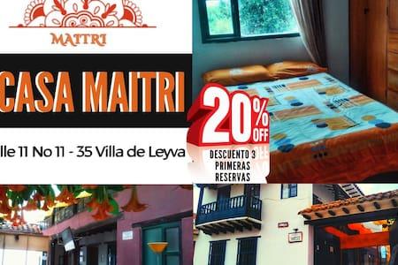 Centro de villa de leyva habitación privada Maitri