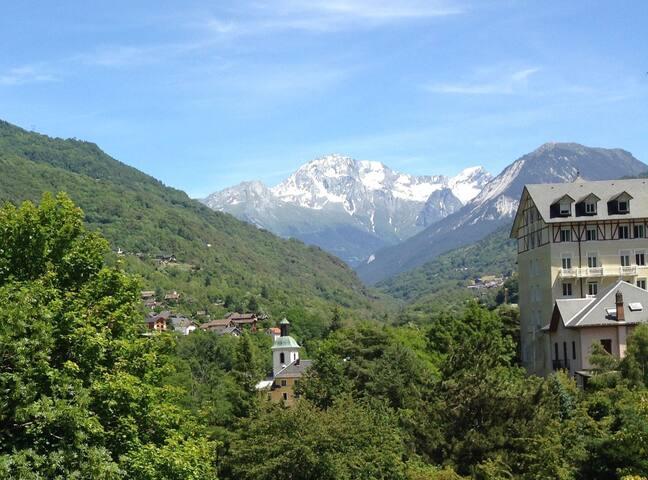 Studio 4p à Brides les bains - Superbe vue Vanoise - Brides-les-Bains - Departamento