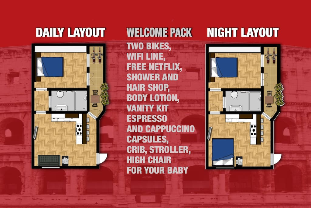 Welcome pack and apartment's layouts