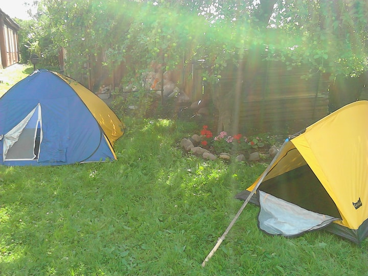 Camping during Viljandi Folk Festival