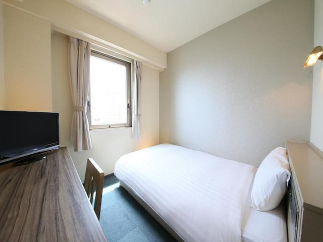 2min->Hitachi Sta/Single Room/SmokeOK/Breakfast