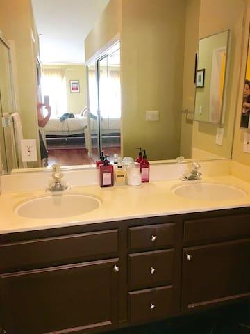 spacious master bath