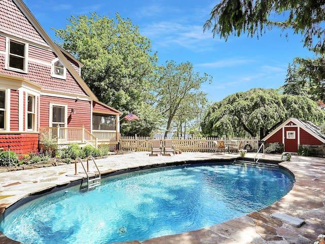 Island Heights Bayview Beach House with pool.