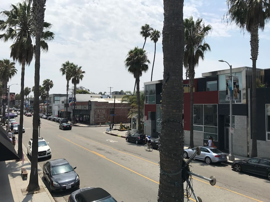 view from front patio overlooking Abbot Kinney