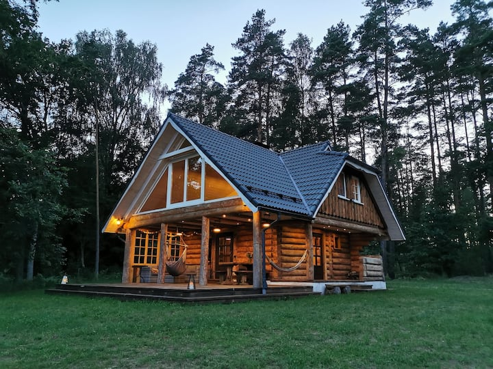 """Gaujmale"" sauna house deep in nature"