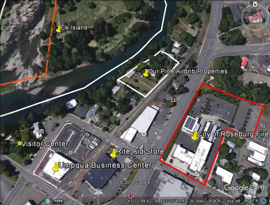 292 SE Pine and proximity to 24/7 Fire/Life/Safety, Douglas County Visitors Center, and Rite Aid to name a few