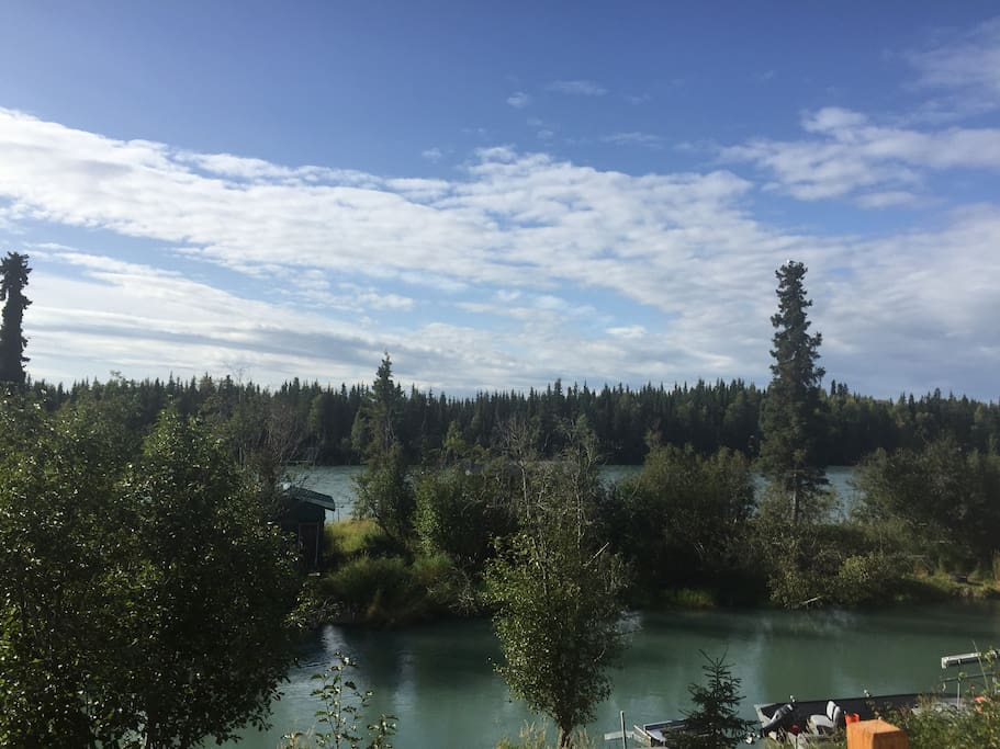 View of Kenai River from upstairs.