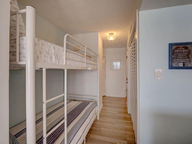 Bunk beds in hallway!