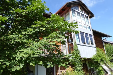 Room in wooden house with garden - Oy-Mittelberg - Casa