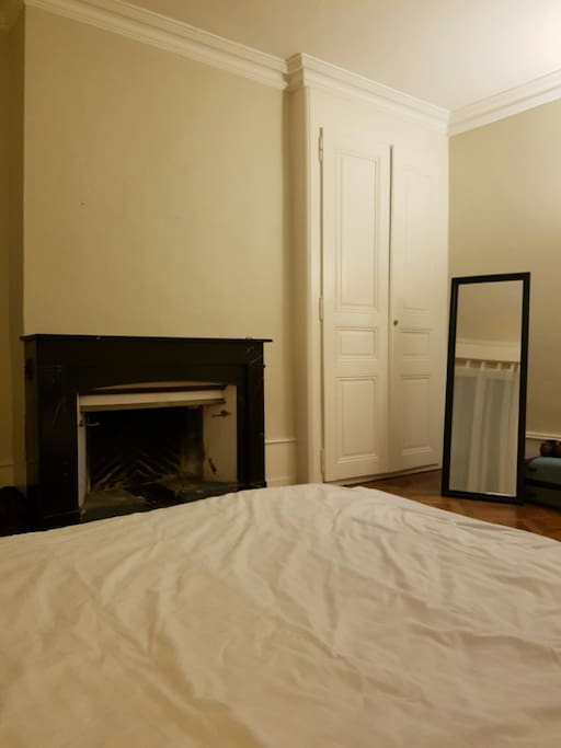 1rst Room, 1 bed 2 persons with fireplace