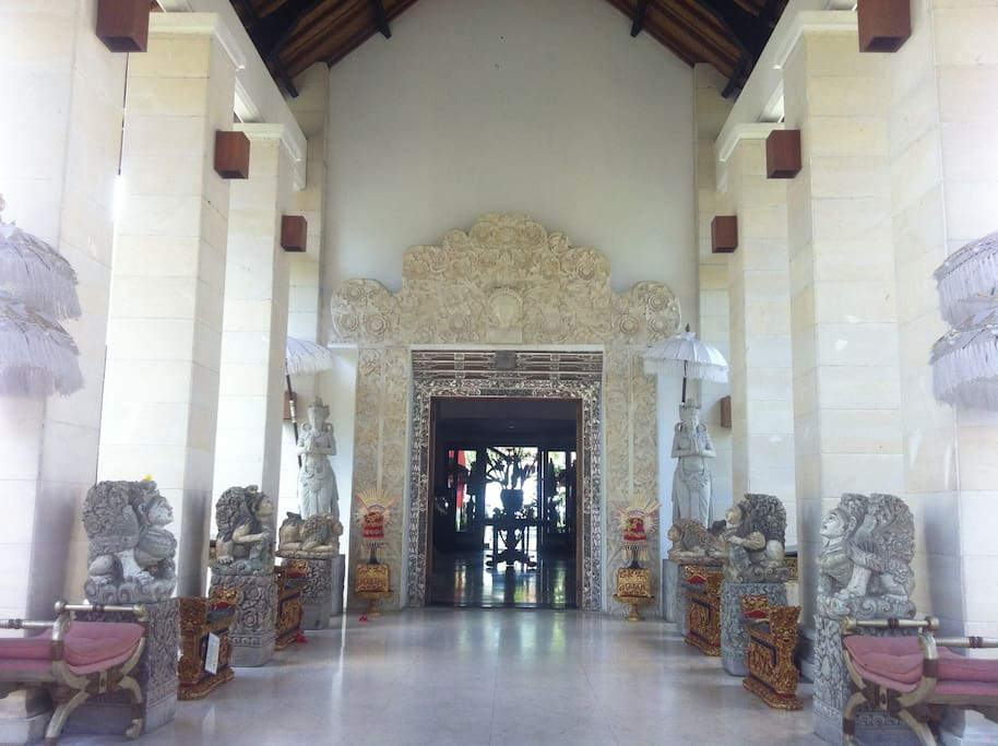 the front entrance to this beautiful OASIS