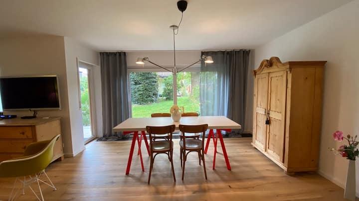 Gemütliche und stilvolle 3-Zimmer Gartenwohnung
