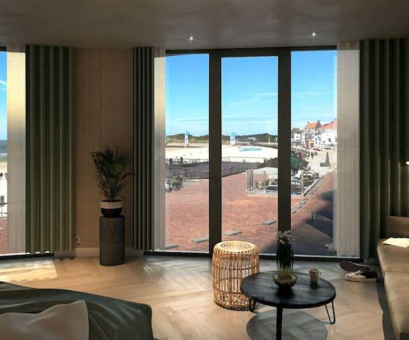 Deluxe Ocean Suite met frans balkon en zeezicht