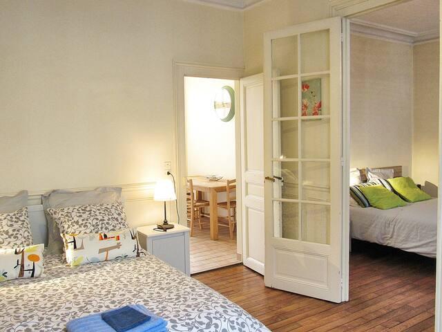 appartement centre gare 2 belles chambres - Tours - Leilighet