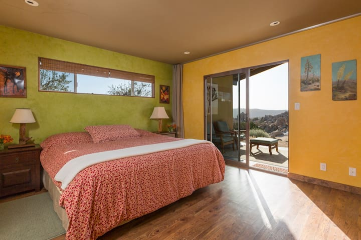 Master bedroom with king bed - and great morning views.