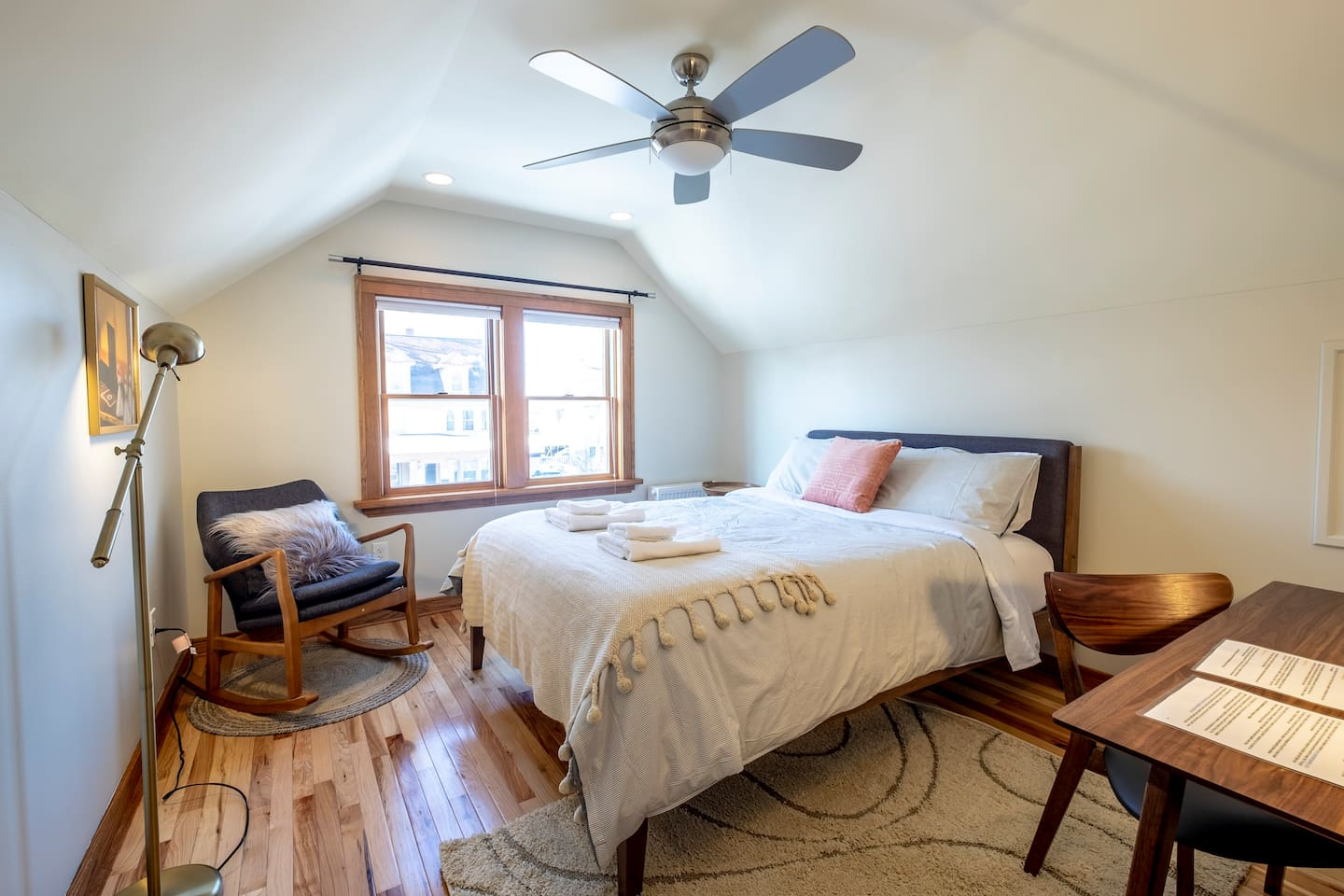Cozy, large room with a queen size bed and a rocking chair that you won't want to leave!